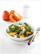 Persimmon and Watercress Salad with Gorgonzola and Toasted Walnuts