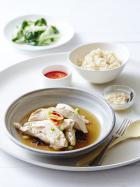 Hainan chicken with rice & chilli sauce